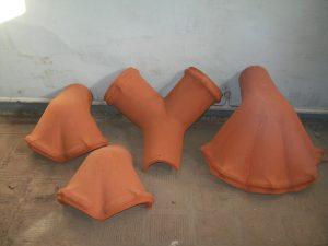 wyroby ceramiczne, trójniki