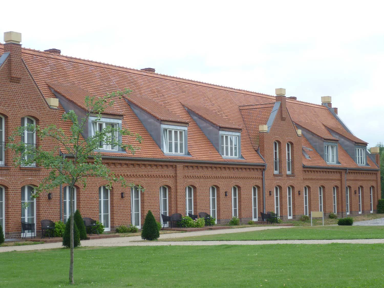 Domki dla gości przy zamku w Messeberg, Niemcy